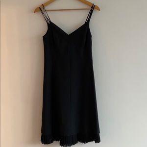 Theory black susannah spaghetti dress